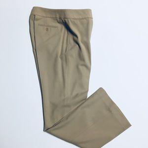 Ann Taylor Khaki Cropped Dress Slacks Size 4